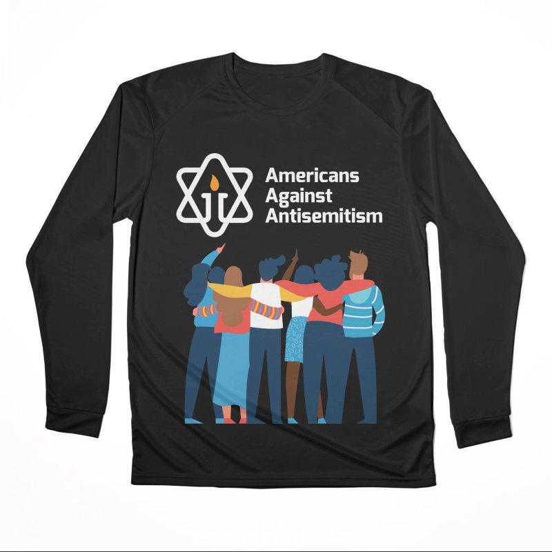 United Against Hate - Dark Backgrounds Women's Performance Unisex Longsleeve T-Shirt by Americans Against Antisemitism's Artist Shop