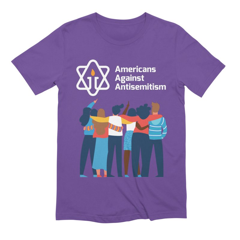 United Against Hate - Dark Backgrounds Men's Extra Soft T-Shirt by Americans Against Antisemitism's Artist Shop