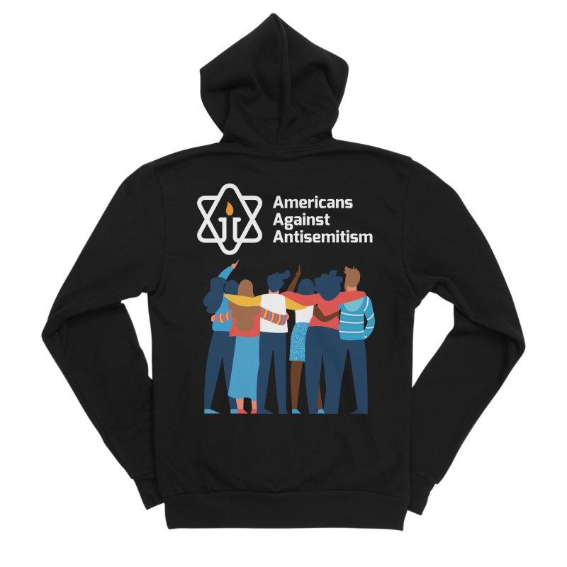 United Against Hate - Dark Backgrounds Women's Sponge Fleece Zip-Up Hoody by Americans Against Antisemitism's Artist Shop