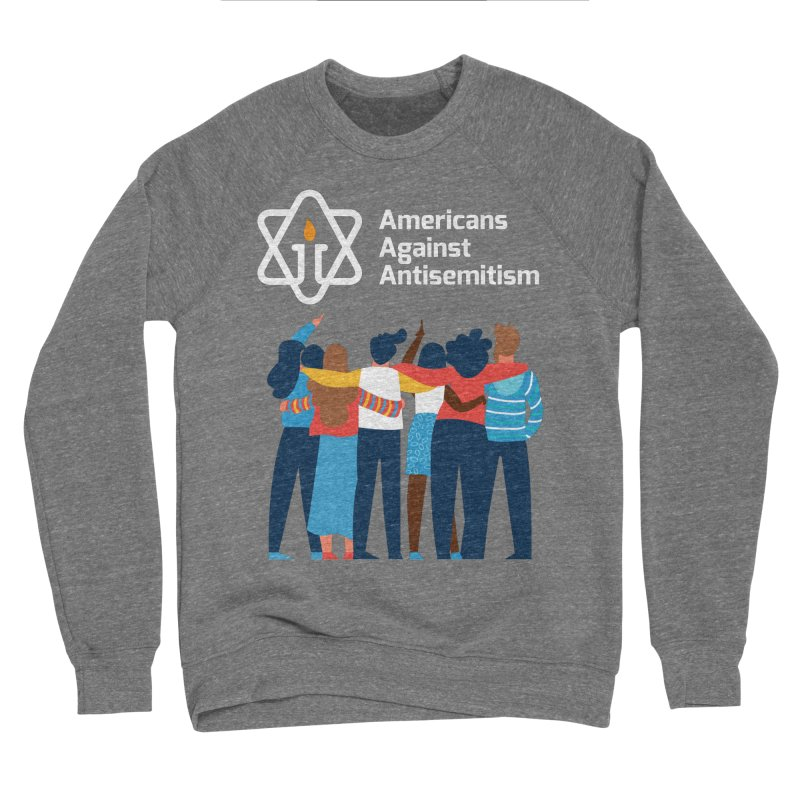 United Against Hate - Dark Backgrounds Men's Sponge Fleece Sweatshirt by Americans Against Antisemitism's Artist Shop