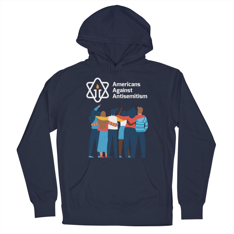 United Against Hate - Dark Backgrounds Men's French Terry Pullover Hoody by Americans Against Antisemitism's Artist Shop