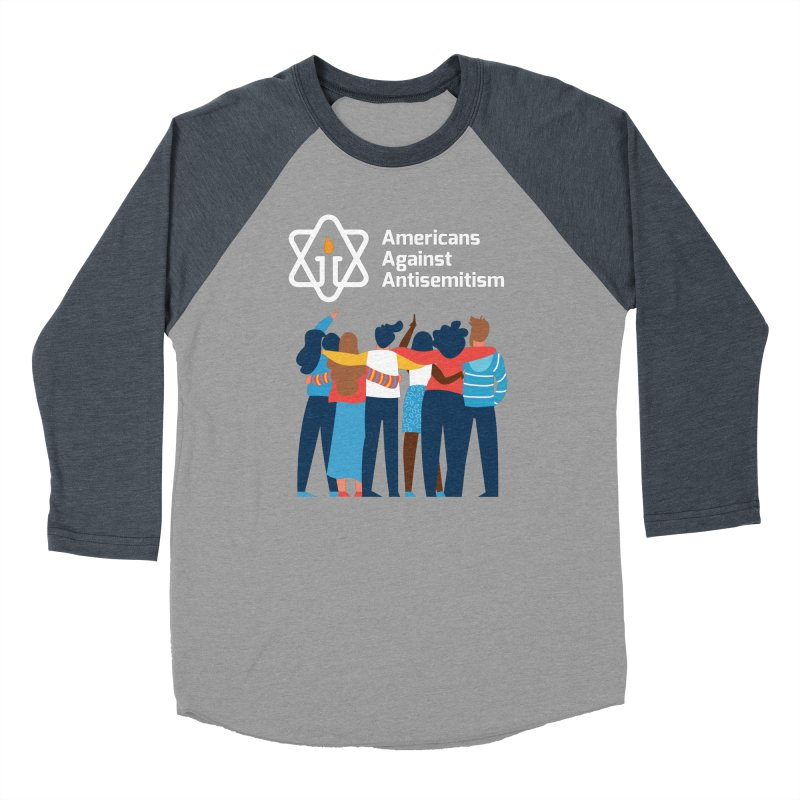 United Against Hate - Dark Backgrounds Men's Baseball Triblend Longsleeve T-Shirt by Americans Against Antisemitism's Artist Shop