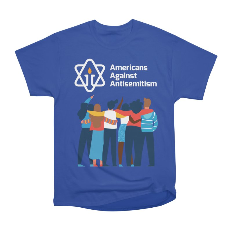 United Against Hate - Dark Backgrounds Men's Heavyweight T-Shirt by Americans Against Antisemitism's Artist Shop