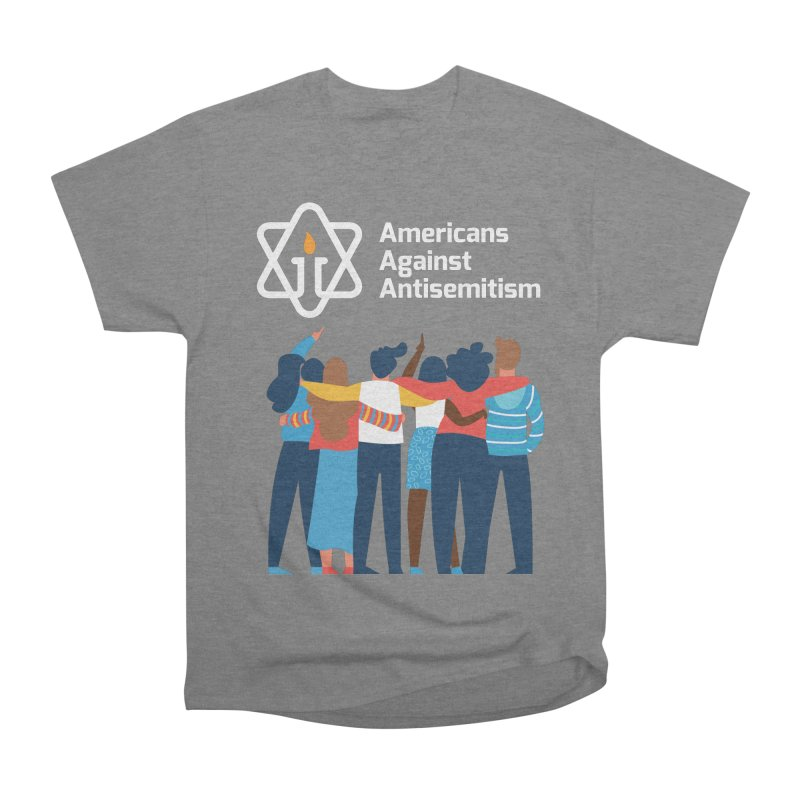 United Against Hate - Dark Backgrounds Women's Heavyweight Unisex T-Shirt by Americans Against Antisemitism's Artist Shop