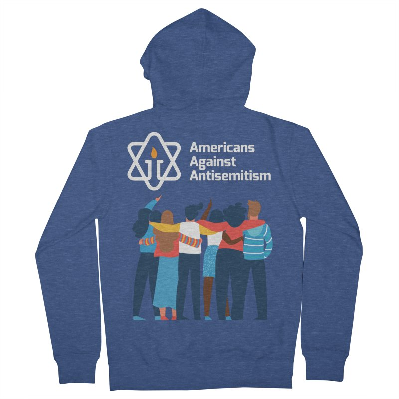 United Against Hate - Dark Backgrounds Women's French Terry Zip-Up Hoody by Americans Against Antisemitism's Artist Shop