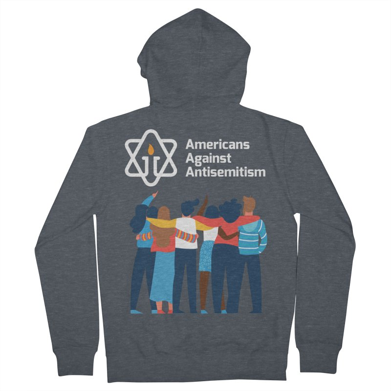 United Against Hate - Dark Backgrounds Men's French Terry Zip-Up Hoody by Americans Against Antisemitism's Artist Shop