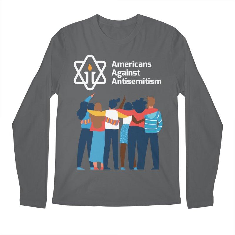 United Against Hate - Dark Backgrounds Men's Longsleeve T-Shirt by Americans Against Antisemitism's Artist Shop