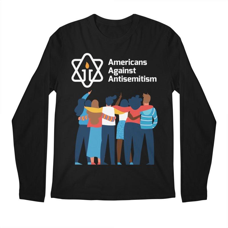 United Against Hate - Dark Backgrounds Men's Regular Longsleeve T-Shirt by Americans Against Antisemitism's Artist Shop