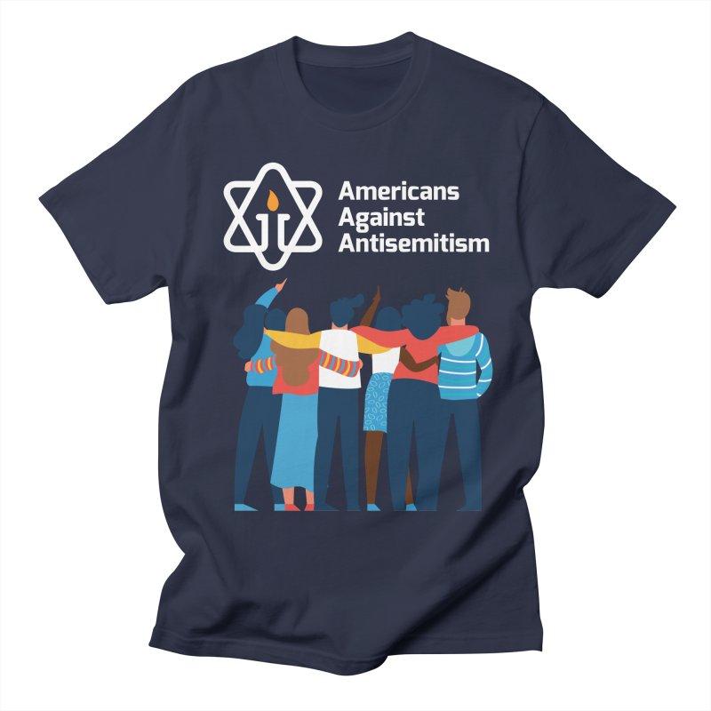 United Against Hate - Dark Backgrounds Men's Regular T-Shirt by Americans Against Antisemitism's Artist Shop