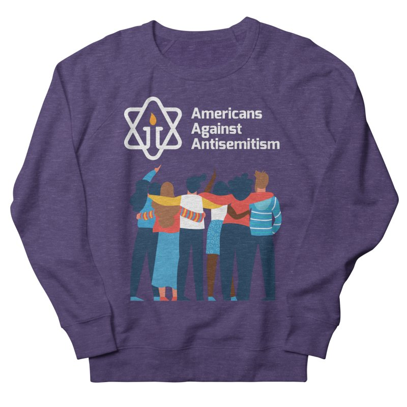 United Against Hate - Dark Backgrounds Women's French Terry Sweatshirt by Americans Against Antisemitism's Artist Shop