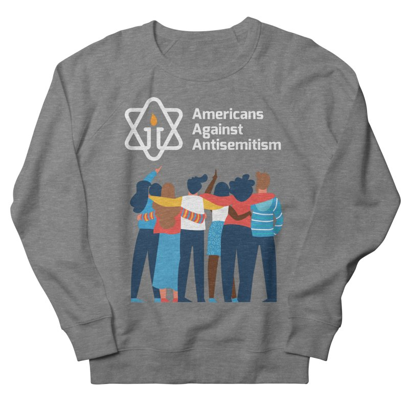 United Against Hate - Dark Backgrounds Men's French Terry Sweatshirt by Americans Against Antisemitism's Artist Shop