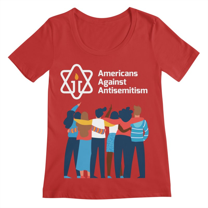 United Against Hate - Dark Backgrounds Women's Regular Scoop Neck by Americans Against Antisemitism's Artist Shop