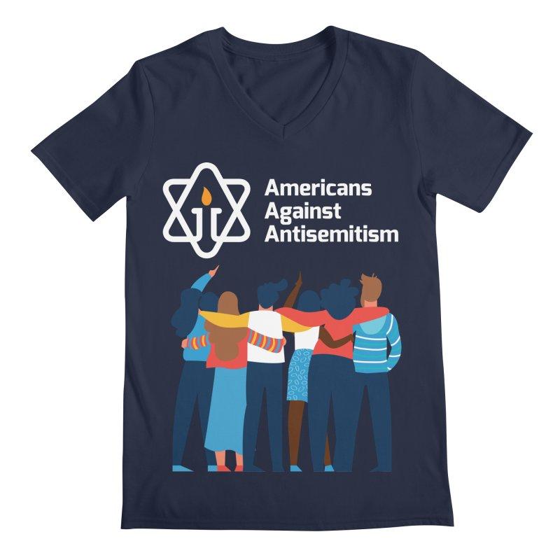 United Against Hate - Dark Backgrounds Men's Regular V-Neck by Americans Against Antisemitism's Artist Shop