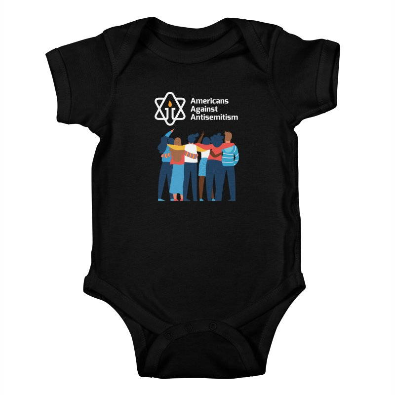 United Against Hate - Dark Backgrounds Kids Baby Bodysuit by Americans Against Antisemitism's Artist Shop