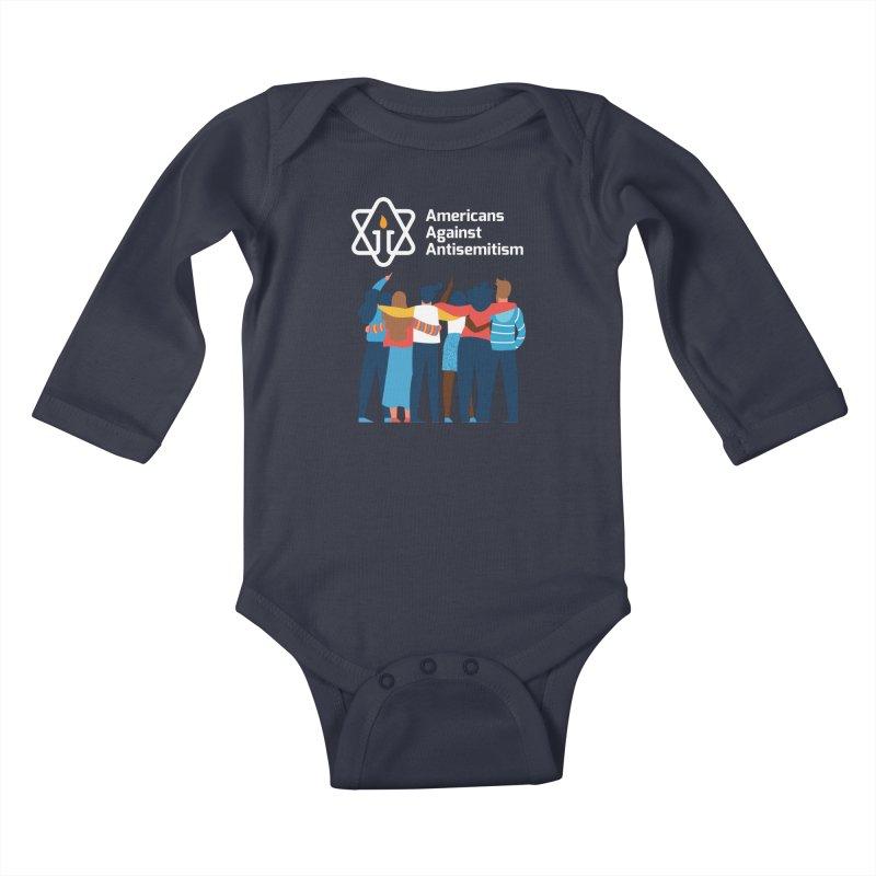 United Against Hate - Dark Backgrounds Kids Baby Longsleeve Bodysuit by Americans Against Antisemitism's Artist Shop