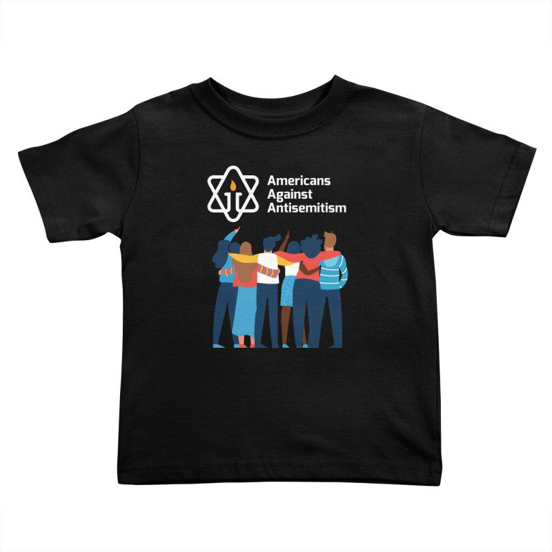 United Against Hate - Dark Backgrounds Kids Toddler T-Shirt by Americans Against Antisemitism's Artist Shop