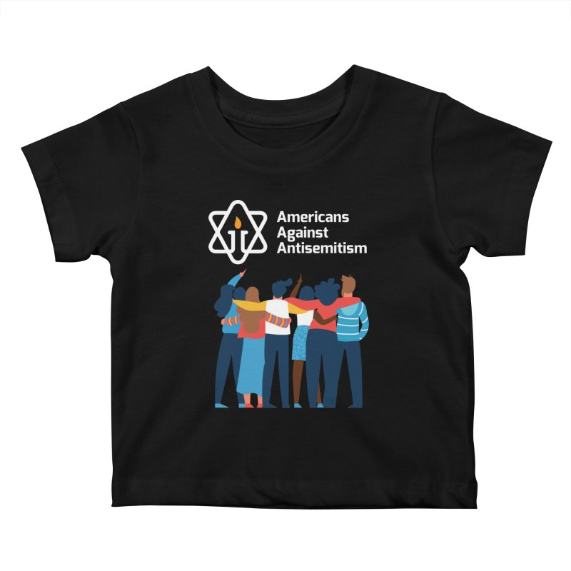 United Against Hate - Dark Backgrounds Kids Baby T-Shirt by Americans Against Antisemitism's Artist Shop