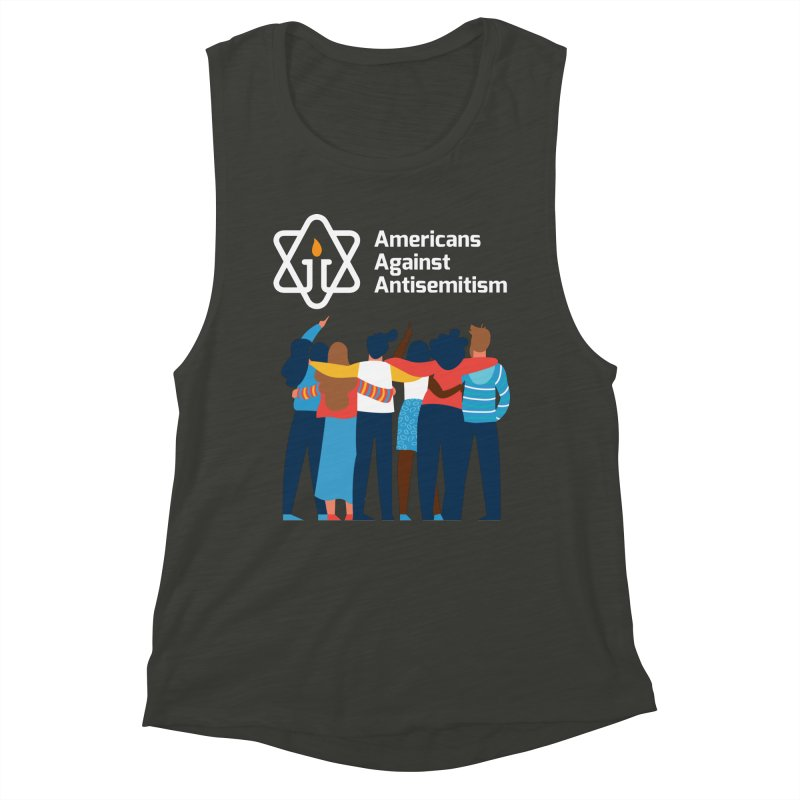 United Against Hate - Dark Backgrounds Women's Muscle Tank by Americans Against Antisemitism's Artist Shop