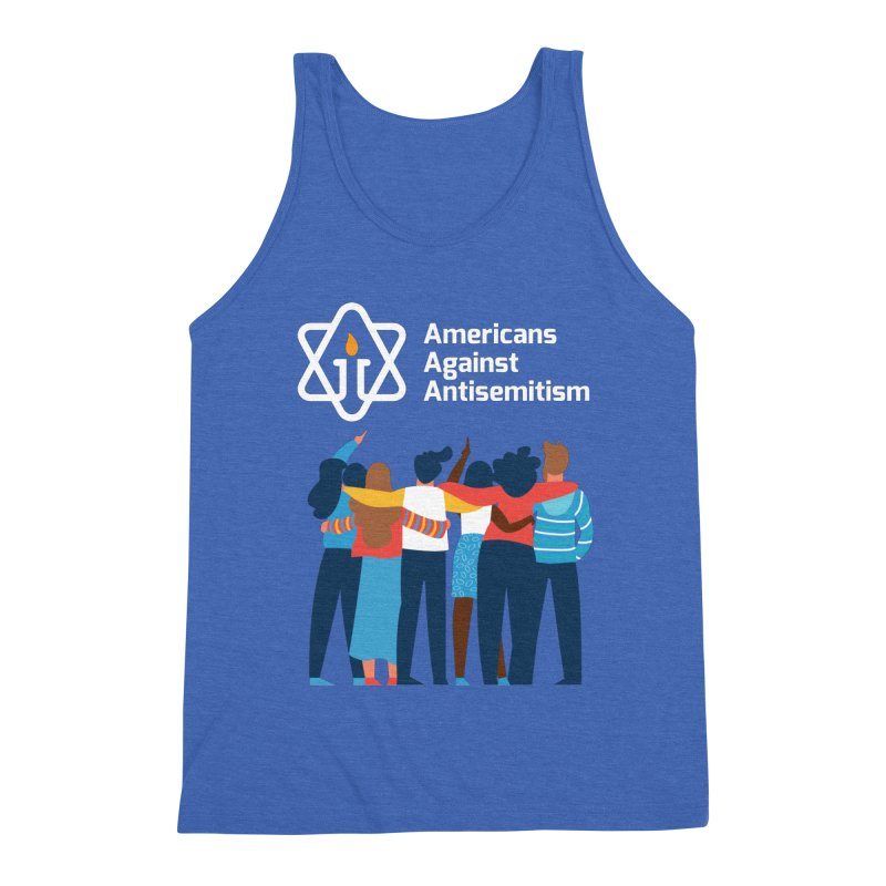 United Against Hate - Dark Backgrounds Men's Triblend Tank by Americans Against Antisemitism's Artist Shop