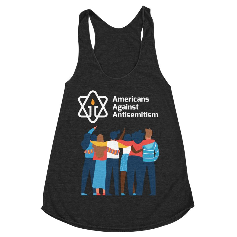 United Against Hate - Dark Backgrounds Women's Racerback Triblend Tank by Americans Against Antisemitism's Artist Shop