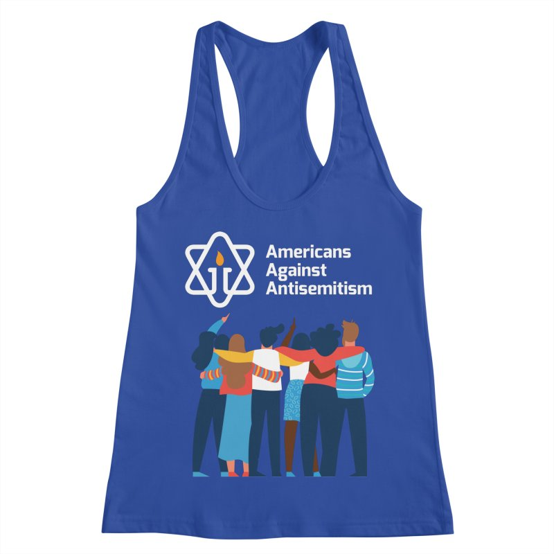 United Against Hate - Dark Backgrounds Women's Racerback Tank by Americans Against Antisemitism's Artist Shop
