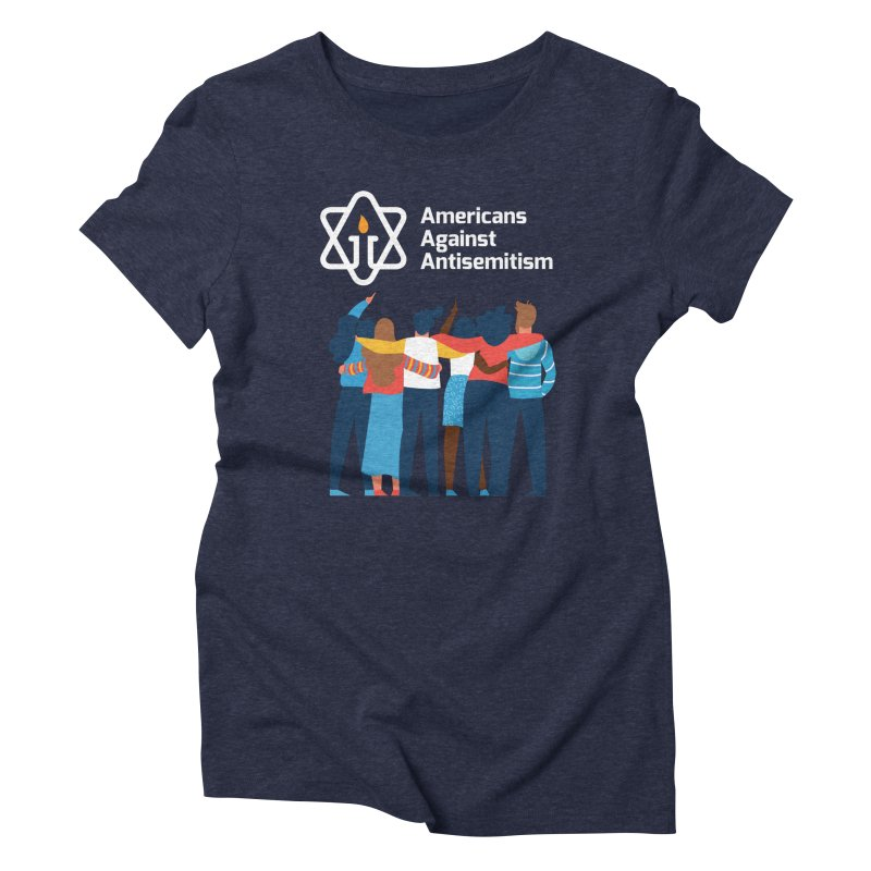 United Against Hate - Dark Backgrounds Women's T-Shirt by Americans Against Antisemitism's Artist Shop