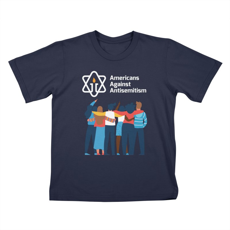 United Against Hate - Dark Backgrounds Kids T-Shirt by Americans Against Antisemitism's Artist Shop