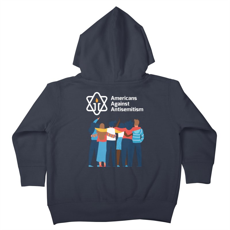 United Against Hate - Dark Backgrounds Kids Toddler Zip-Up Hoody by Americans Against Antisemitism's Artist Shop