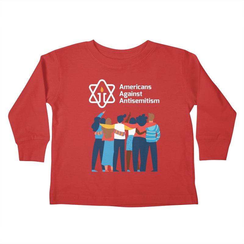 United Against Hate - Dark Backgrounds Kids Toddler Longsleeve T-Shirt by Americans Against Antisemitism's Artist Shop
