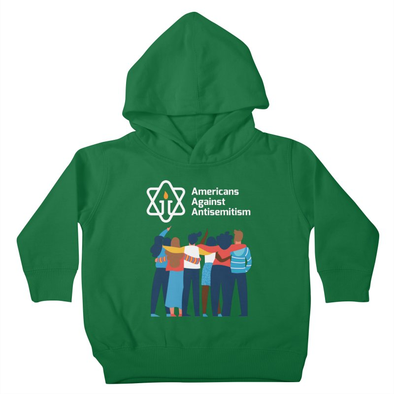 United Against Hate - Dark Backgrounds Kids Toddler Pullover Hoody by Americans Against Antisemitism's Artist Shop