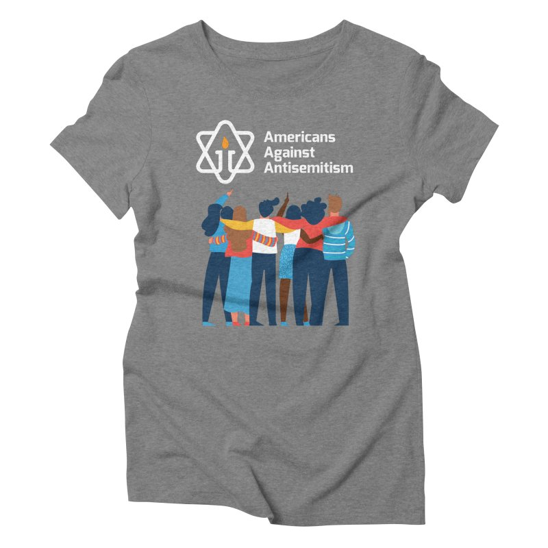United Against Hate - Dark Backgrounds Women's Triblend T-Shirt by Americans Against Antisemitism's Artist Shop