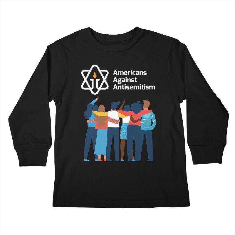 United Against Hate - Dark Backgrounds Kids Longsleeve T-Shirt by Americans Against Antisemitism's Artist Shop