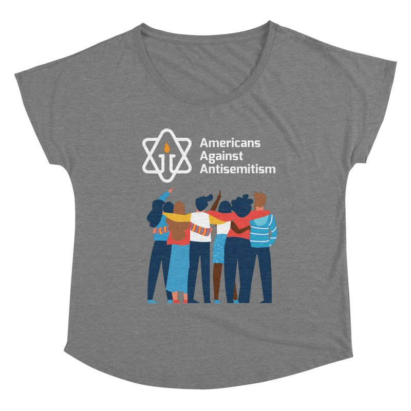 United Against Hate - Dark Backgrounds Women's Scoop Neck by Americans Against Antisemitism's Artist Shop