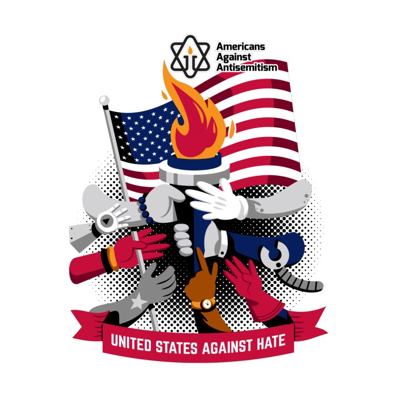 United States Against Hate by Americans Against Antisemitism's Artist Shop