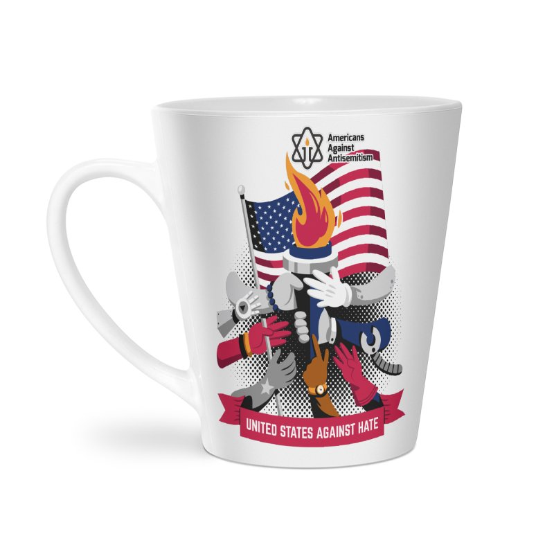 United States Against Hate Accessories Latte Mug by Americans Against Antisemitism's Artist Shop