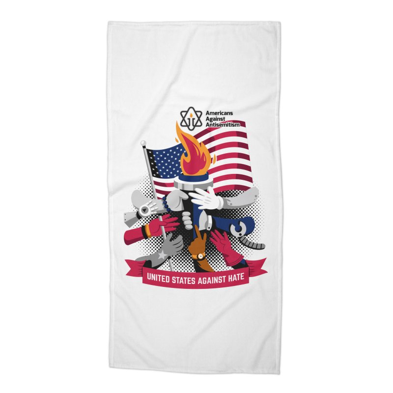 United States Against Hate Accessories Beach Towel by Americans Against Antisemitism's Artist Shop