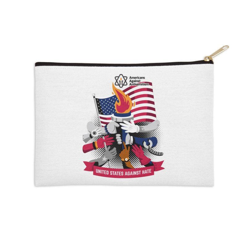 United States Against Hate Accessories Zip Pouch by Americans Against Antisemitism's Artist Shop