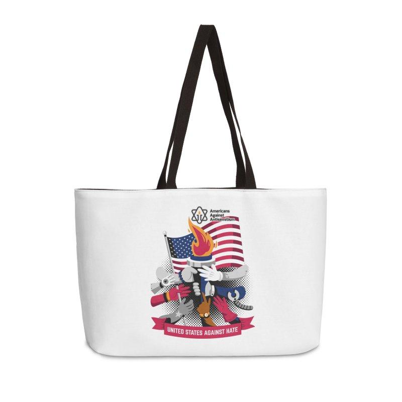 United States Against Hate Accessories Weekender Bag Bag by Americans Against Antisemitism's Artist Shop