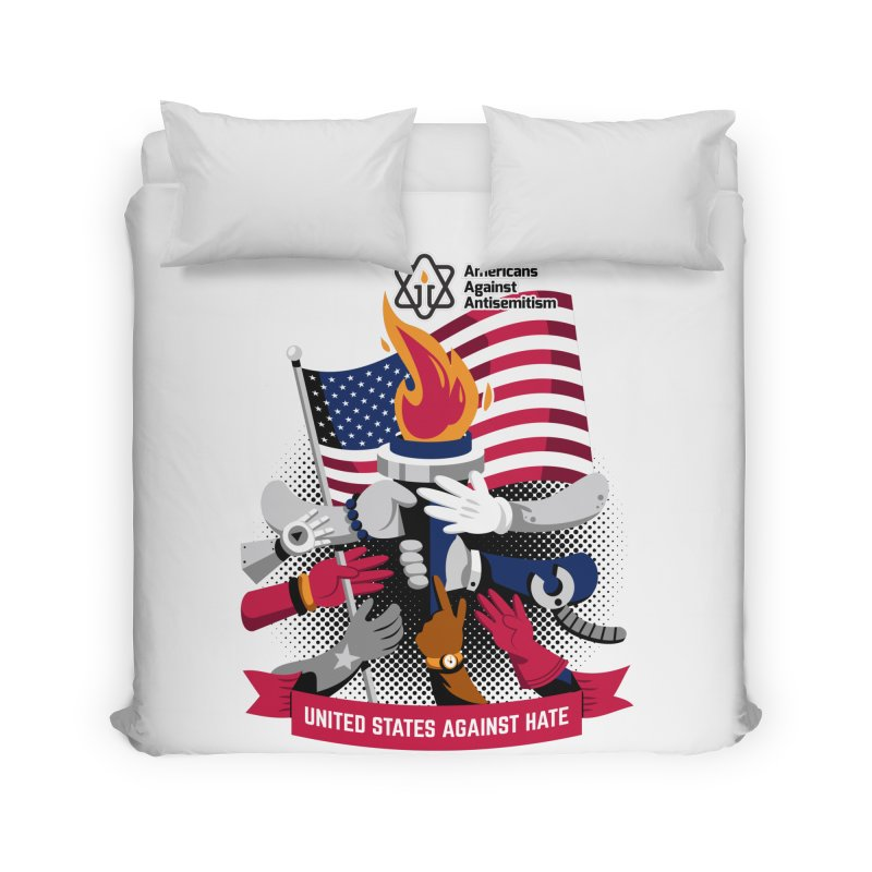 United States Against Hate Home Duvet by Americans Against Antisemitism's Artist Shop