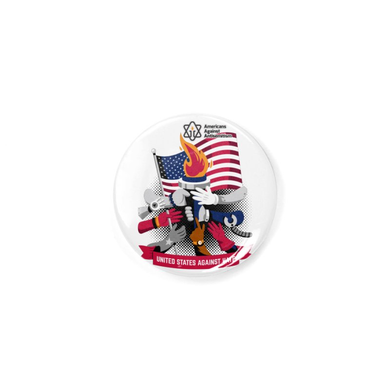 United States Against Hate Accessories Button by Americans Against Antisemitism's Artist Shop