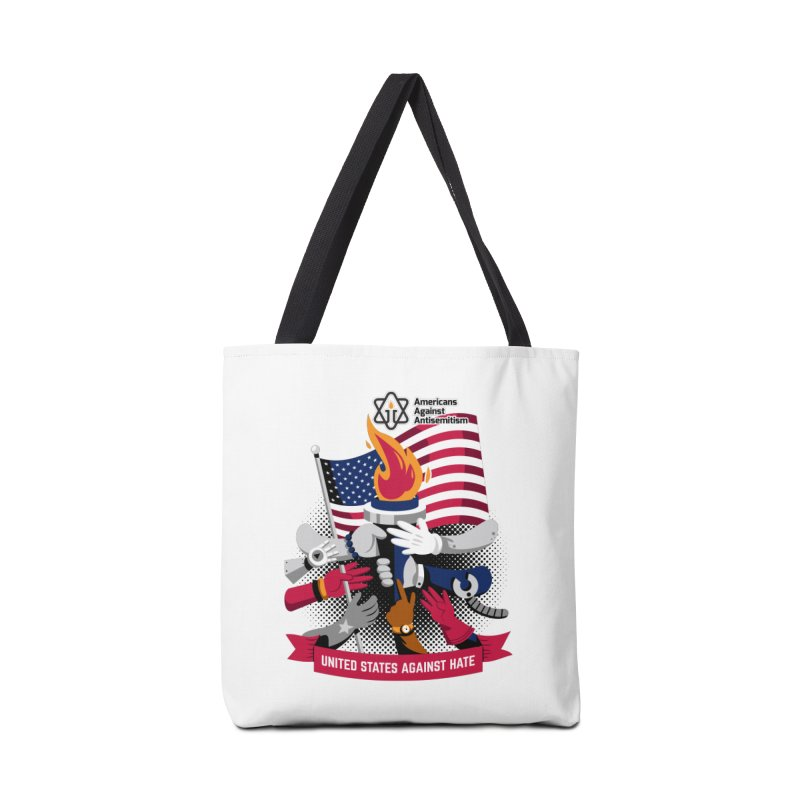 United States Against Hate Accessories Tote Bag Bag by Americans Against Antisemitism's Artist Shop