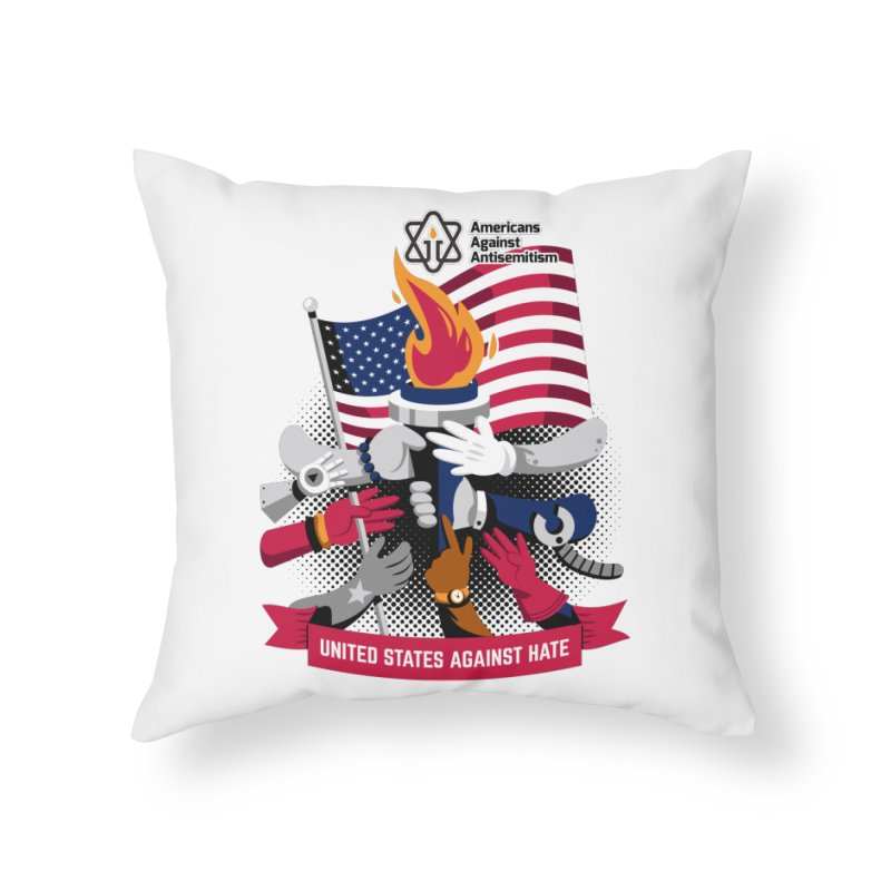 United States Against Hate Home Throw Pillow by Americans Against Antisemitism's Artist Shop