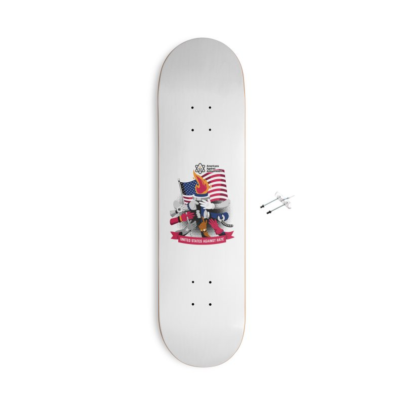 United States Against Hate Accessories With Hanging Hardware Skateboard by Americans Against Antisemitism's Artist Shop