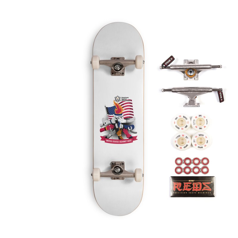 United States Against Hate Accessories Complete - Pro Skateboard by Americans Against Antisemitism's Artist Shop
