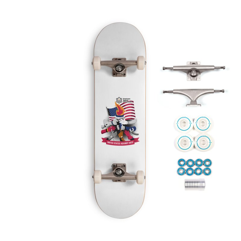 United States Against Hate Accessories Complete - Basic Skateboard by Americans Against Antisemitism's Artist Shop