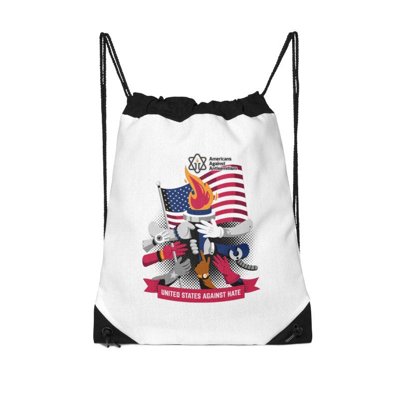 United States Against Hate Accessories Drawstring Bag Bag by Americans Against Antisemitism's Artist Shop