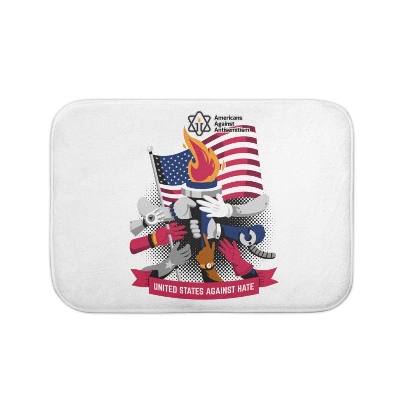 United States Against Hate Home Bath Mat by Americans Against Antisemitism's Artist Shop
