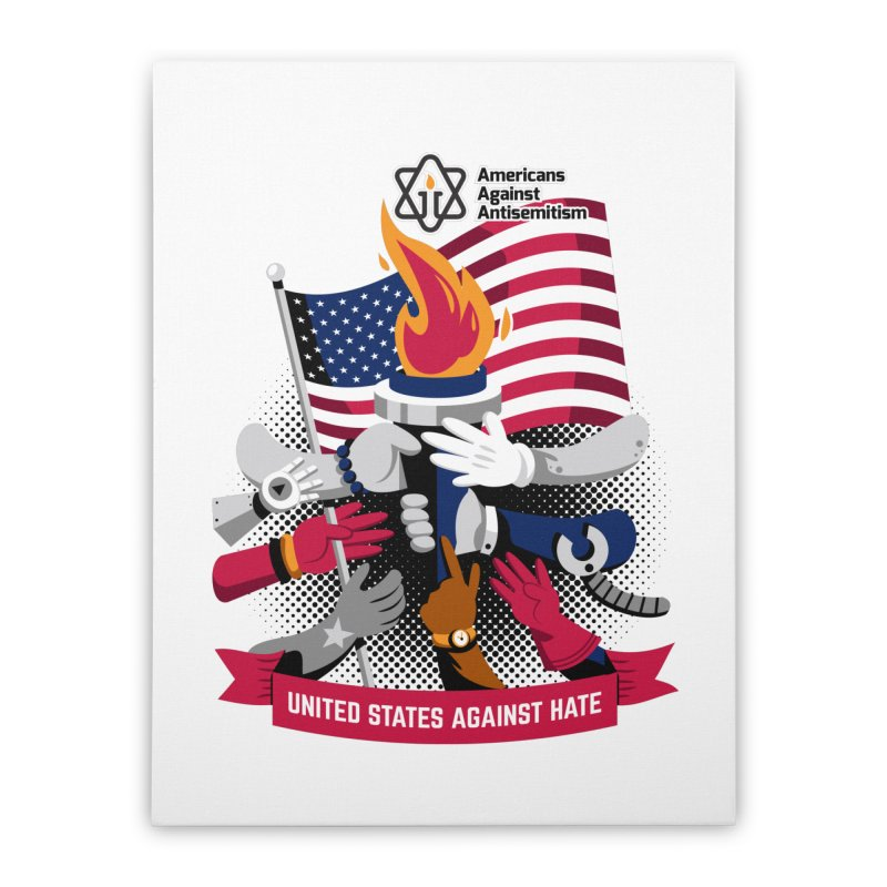 United States Against Hate Home Stretched Canvas by Americans Against Antisemitism's Artist Shop