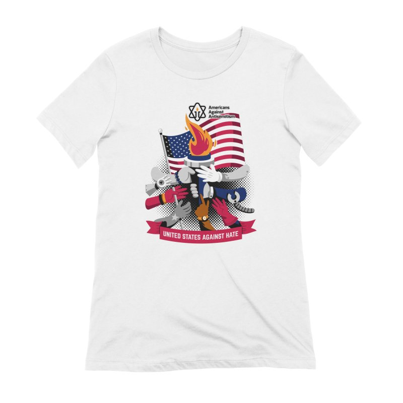 United States Against Hate Women's Extra Soft T-Shirt by Americans Against Antisemitism's Artist Shop