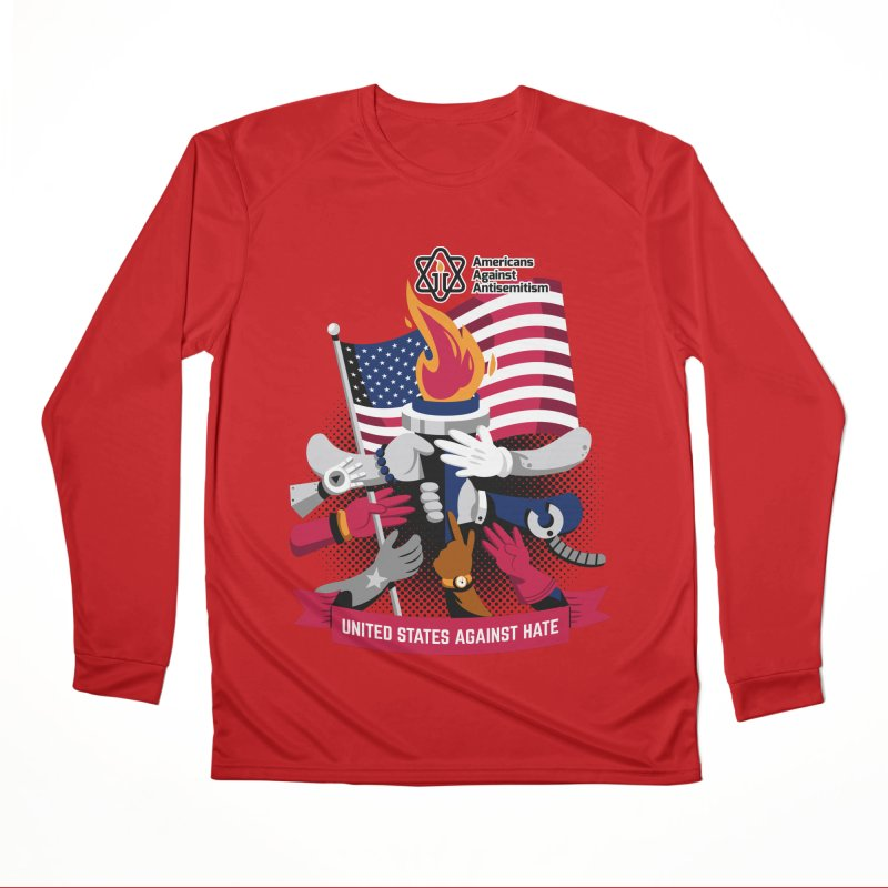 United States Against Hate Men's Performance Longsleeve T-Shirt by Americans Against Antisemitism's Artist Shop